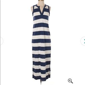 GAP Navy/White Stripe Maxi Tank Dress, Medium